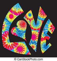band hat gefärbt, liebe, symbol