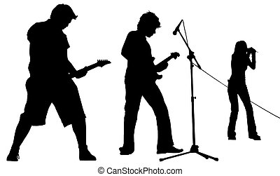 band isolated - musicians with clipping path