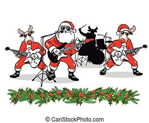 band, kerstmis