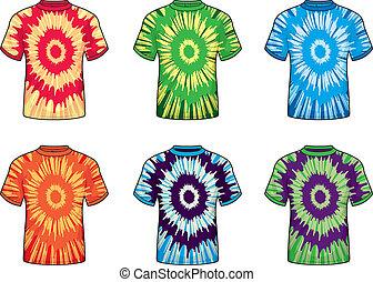band-kleurstof, overhemden