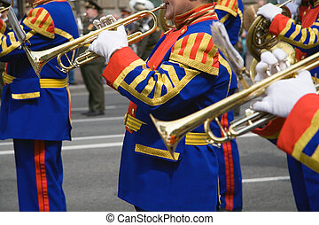 band, messing, armee