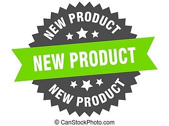 band, nieuw, teken., circulaire, productetiket, green-black