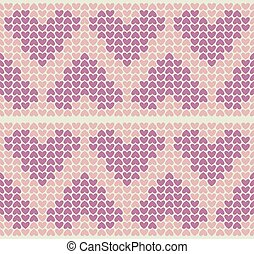 Band Pattern With Little Hearts