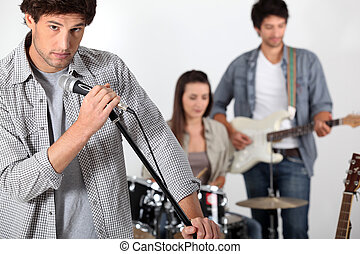band, rehearsing, rots