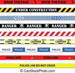 band, seamless, varning