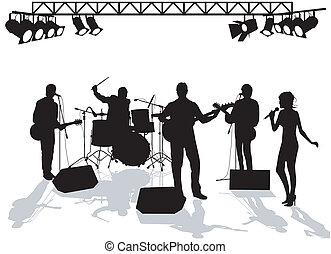 band, toneel