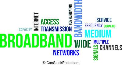 banda ancha, palabra, -, nube