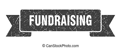 banda, cégtábla., transzparens, ribbon., fundraising, grunge