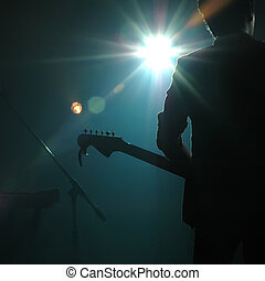 banda, guitarrista, taponazo