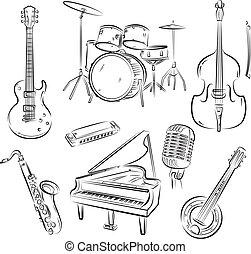 banda, jazz, set
