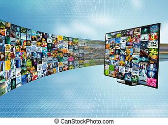 banda larga, televisione, internet, far male, intrattenimento