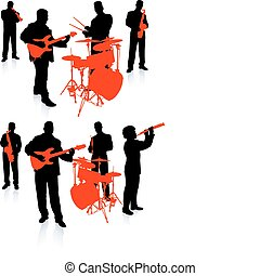 banda, música viva, colección