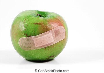 banda, manzana, ayuda