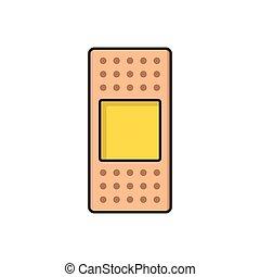 bandage  flat color icon