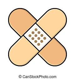 bandage line flat icon