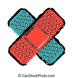 bandage medical isolated icon