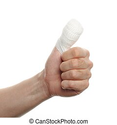 bandage on a finger
