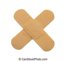 bandage - 2 patches isolated on white