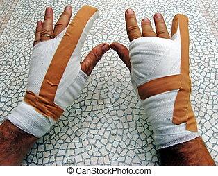 bandaged hands 1