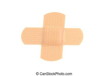 bandages cross shape - cross shape bandages isolated on...