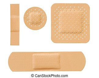 Bandages - Isolated bandages set