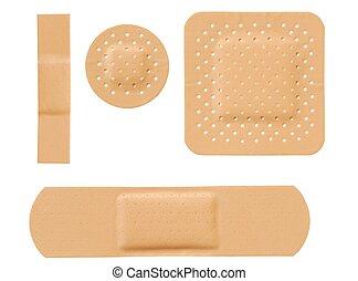 Bandages - Isolated bandages set