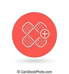 Bandaid icon. Bandage sign. plaster symbol. Vector illustration.