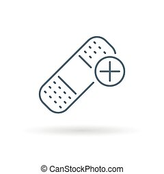 Bandaid icon on white background