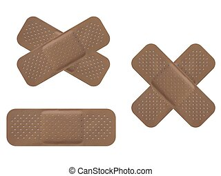 Bandaid isolated over a white background