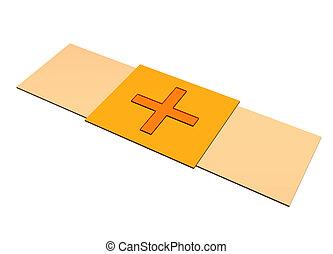 Bandaid plaster clip art isolated