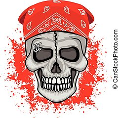 bandana, czaszka