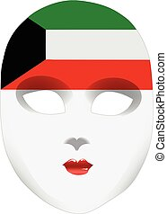 Bandana in the form of the national flag Kuwait - A symbolic...
