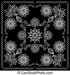 Bandana Print With Black and White Elements