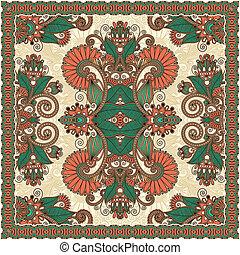 bandanna, traditionele , paisley, floral, decoratief