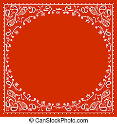 bandanna, vermelho, boiadeiro