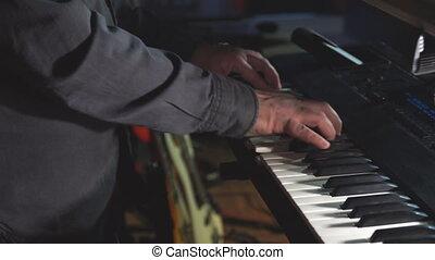 bande, étape, petit, balle, ou, jeux, pianiste, quoique, ...