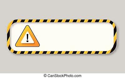 bande, cadre, avertissement, bannière, prudence