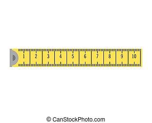 bande, jaune, mesure