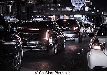 bande las vegas, soir, trafic