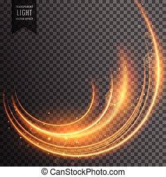 bande, lumière, néon, effet, vecteur, fond, transparent