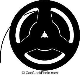 bande magnétique, bobine
