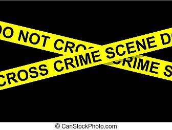 bande, scène, crime