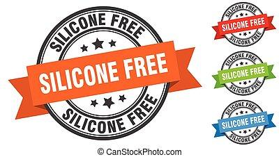 bande, set., signe, étiquette, stamp., gratuite, silicone, ...