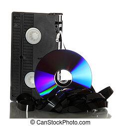 bande vidéo, dvd, endommagé