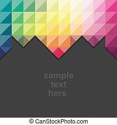 bandeira, abstratos, criativo, folheto