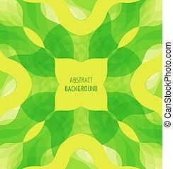 bandeira, abstratos, experiência verde, ondas