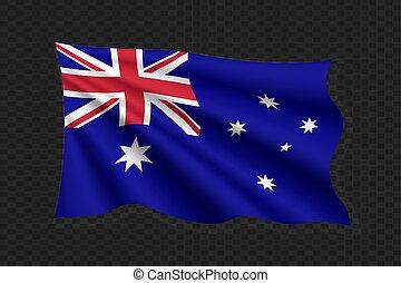 bandeira acenando, 3d