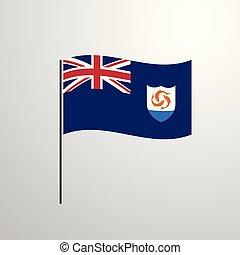 bandeira acenando, anguilla