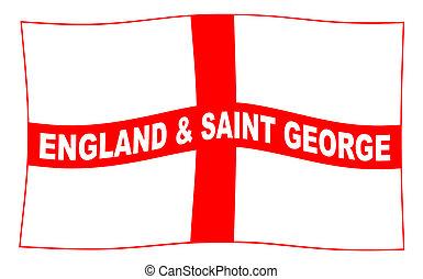 bandeira acenando, inglaterra, george, são