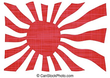bandeira acenando, japoneses